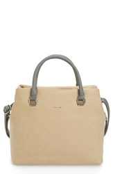 Pixie Mood Sylvia Faux Leather Tote Beige Taupe