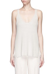 Helmut Lang Racerback Cotton Knit Tank Top White