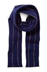 Gant Striped Wool Scarf Blue