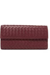 Bottega Veneta Intrecciato Leather Wallet Burgundy