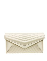 Sondra Roberts Quilted Chain Clutch Taupe