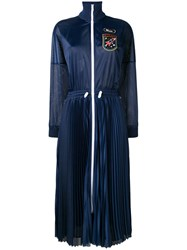 Red Valentino Track Jacket Dress Blue