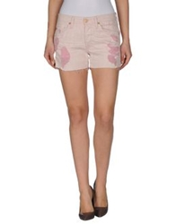 7 For All Mankind Denim Shorts Light Pink