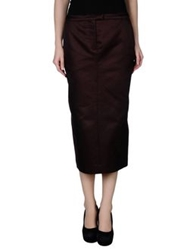 Veronique Branquinho 3 4 Length Skirts Cocoa