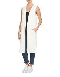 1.State Ivy Long Vest White