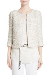 St. John Women's Collection Sahara Fringe Jacket