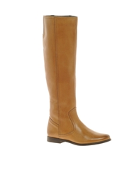 Asos Chief Leather Knee High Boots Tan