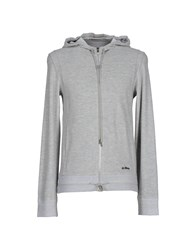Dirk Bikkembergs Topwear Sweatshirts Men Light Grey