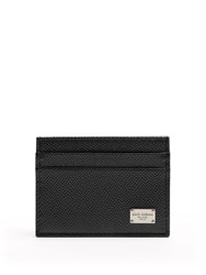 Dolce And Gabbana Grained Leather Cardholder Black