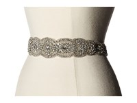 Nina Jonquil Crystal Oval Belt Ivory Satin Crystal Women's Belts Bone