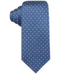 Ryan Seacrest Distinction Men's Bedford Slim Dot Tie Only At Macy's Navy