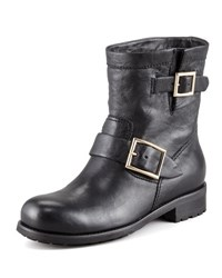 Jimmy Choo Youth Buckled Biker Boot Black