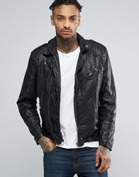 Pepe Jeans Godot Leather Biker Jacket Black
