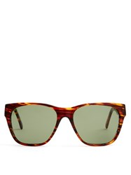 L.G.R Sunglassses Freetown D Frame Sunglasses Brown Multi