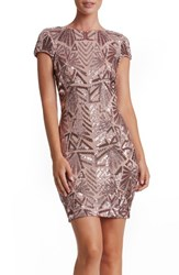 Dress The Population Women's 'Tabitha' Sequin Mesh Minidress