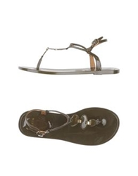 Aerin Thong Sandals Beige
