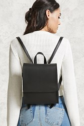 Forever 21 Faux Leather Flap Top Backpack