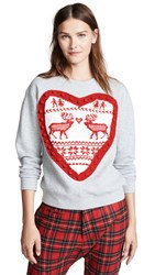 Michaela Buerger Heart Sweatshirt Light Grey