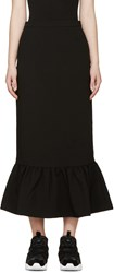 Edit Black Crepe Mermaid Skirt