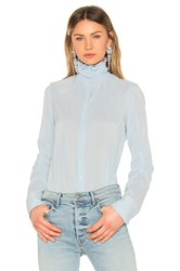 Carven Chemise Manches Longues Top Baby Blue