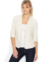 Kensie Three Quarter Sleeve Blazer Birch