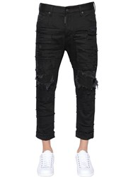 Dsquared 18Cm Glam Head Distressed Denim Jeans