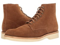 Frye Eric Lace Up Copper Oiled Suede Men's Shoes Brown