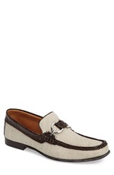 Donald J Pliner Men's 'Dacio' Square Toe Loafer Natural Canvas