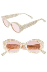 Elizabeth And James Women's Huxley 46Mm Geometric Sunglasses White Pink White Pink