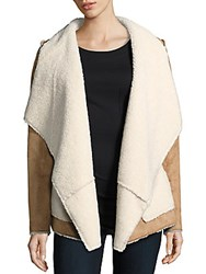 Saks Fifth Avenue Open Front Jacket Natural