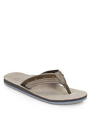 Original Penguin Split Stitched Thong Sandals Grey