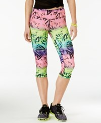 Material Girl Active Juniors' Printed Cropped Leggings Only At Macy's Ombre Tribal