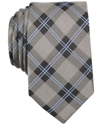 Bar Iii Westbrook Check Tie Only At Macy's Silver
