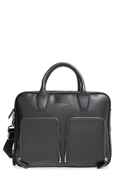 Men's Ted Baker London 'Zipero' Double Zip Compartment Leather Document Briefcase