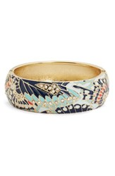 Sequin Women's Mariposa Wide Bangle Navy
