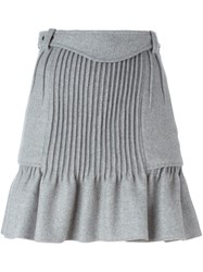 Isabel Marant Pleated A Line Skirt Grey