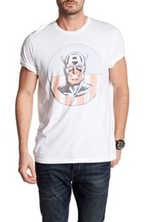 Junk Food Captain America Smile Tee White
