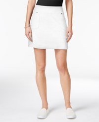 Style And Co Co. Pull On Skort Only At Macy's Bright White