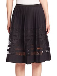 Elie Tahari Frances Pleated Skirt Black
