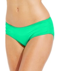 Coco Reef Ruched Hipster Bikini Bottom Women's Swimsuit Jade