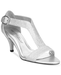 Easy Street Shoes Easy Street Glitz Evening Sandals Women's Shoes Silver Glitter