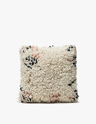 Minna Antigua Shag Pillow 16X16 White
