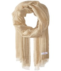 Love Quotes Linen Cotton Solid Sand Scarves Beige