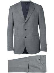 Tonello Jacquard Business Suit Grey