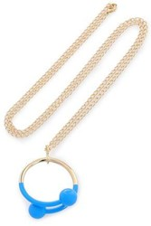 J.W.Anderson Gold Tone Enamel Necklace Gold