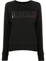 Zadig And Voltaire Massy Logo Stamp Sweatshirt 60