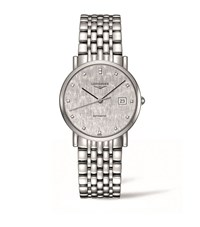 Longines Elegant Collection Date Watch Unisex Silver