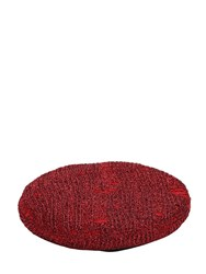 Eugenia Kim Cher Metallic Knit Beret Red