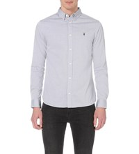 Allsaints Redondo Cotton Shirt Light Grey