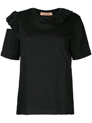 Maggie Marilyn Endless Possibilities Cutout Shoulder T Shirt Cotton S Black